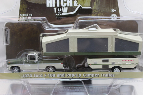 Ford F-100 and Pop-up Camper Trailer 1970