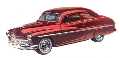 Mercury Coupe 1949   Metaillic Rood