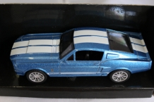 Shelby mustang GT500 1967  blauw/wit