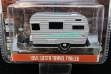 Siesta Travel Trailer 1958 Grijs/mintgroen